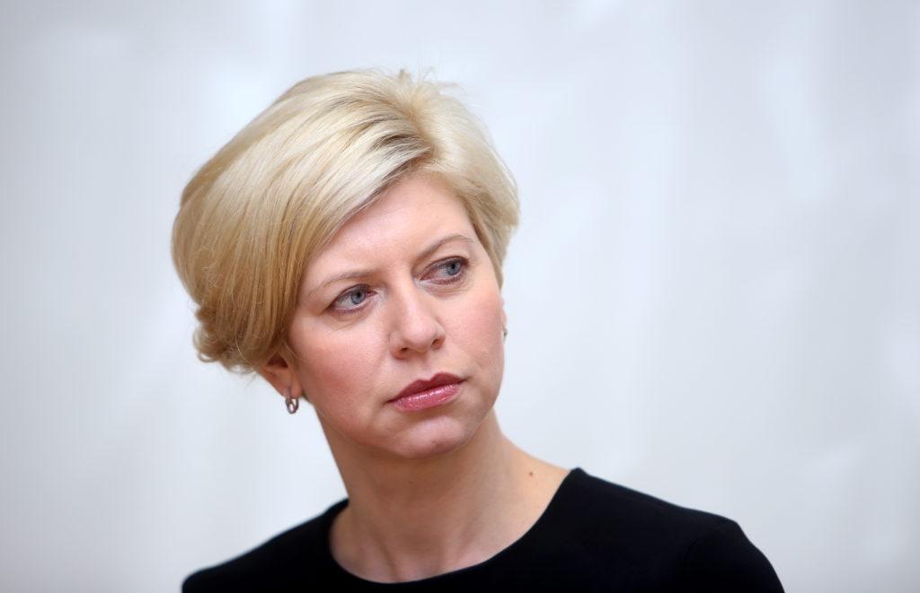Veselības ministre Anda Čakša piedalās preses konferencē, kurā informē par uzlabojumiem onkoloģisko slimību diagnostikas jomā, kas stājas spēkā no 1.oktobra.