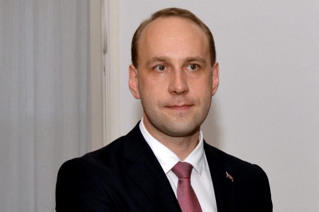 Valsts kancelejas direktors Mārtiņš Krieviņš tikšanās laikā ar Valsts prezidentu Rīgas pilī.