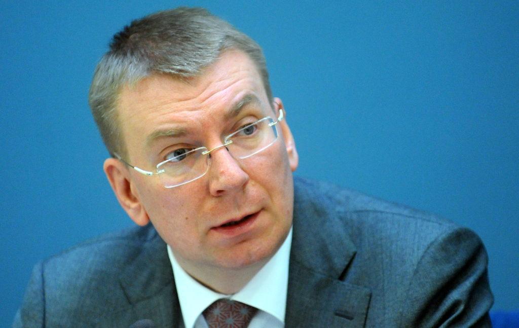 Ārlietu ministrs Edgars Rinkēvičs piedalās preses konferencē, kurā informē par Latvijas prezidentūras Eiropas Savienības Padomē sasniegto pirmajos trijos mēnešos.