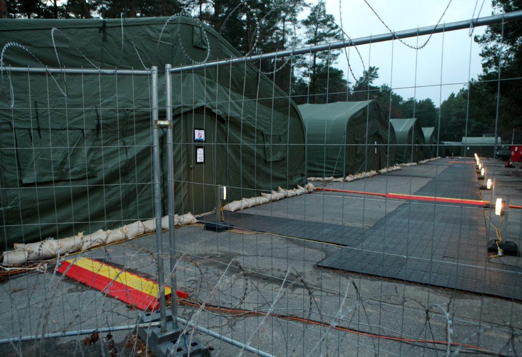 """Teitorija Ādažu militārā bāzē, kur notiek NATO mācības """"Steadfast Jazz 2013""""."""
