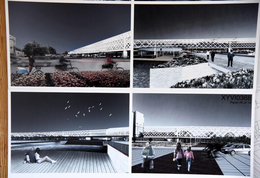 """SIA """"Eiropas Dzelzceļa līnijas"""" izsludinātā starptautiskā metu konkursam """"""""Rail Baltica"""" Rīgas dzelzceļa tilta un Rīgas centrālā multimodālā sabiedriskā transporta mezgla kompleksas apbūves iecere"""" iesniegtie darbi."""