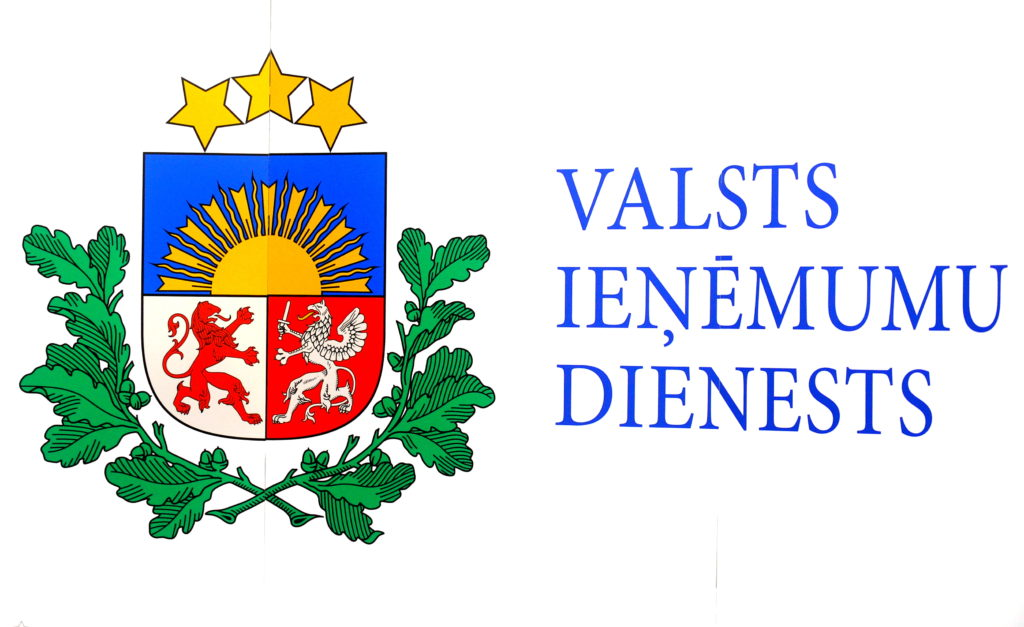 Valsts ieņēmumu dienesta uzraksts.